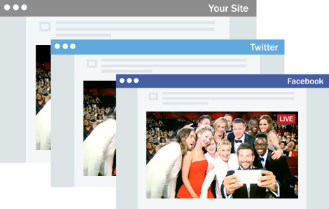 Embed Live Streaming Video on WordPress, Facebook, Twitter