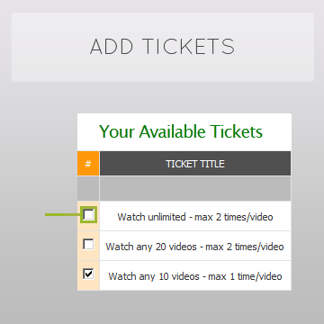 Create and Add Custom Pay Per View Video Ticket Options