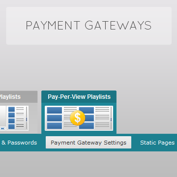 Setup Payment Gateway for Pay-Per-View video